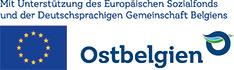 Mit Unterstützung des Europäischen Sozialfonds und der Deutschsprachigen Gemeinschaft Belgiens